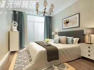 ,117平,6万,现代,三居,卧室,白色,