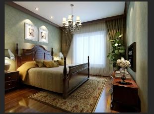 ,280平,80万,别墅,美式,卧室,绿色,