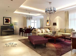 ,550平,120万,欧式,大户型,客厅,白色,