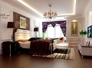 ,550平,120万,欧式,大户型,卧室,白色,