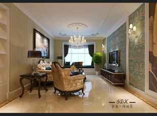 ,140平,20万,大户型,欧式,客厅,黄色,绿色,