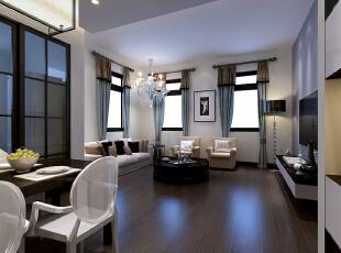 ,80平,15万,现代,一居,客厅,蓝色,