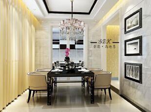 ,280平,80万,别墅,欧式,餐厅,黄色,
