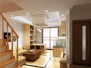客厅既单调又温馨,119平,现代,两居,Loft,童年河装修,客厅,玄关,原木色,