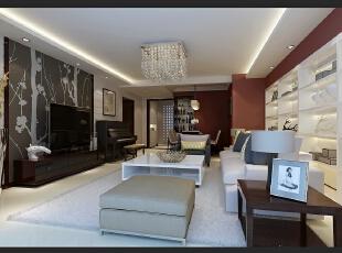 ,70平,14万,两居,欧式,客厅,黑白,