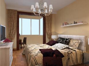 卧室给人以舒适温馨的感觉,现代,两居,童年河loft,童年河装修,原木色,卧室,