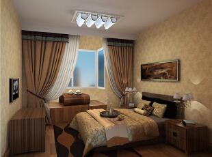 老人房增加了喝茶聊天的空间,给老人营造一个独立的交谈空间,现代,两居,卧室,原木色,童年河装修,