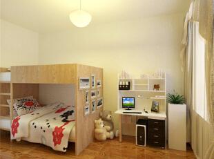 儿童房采用最为简洁的设计,给孩子提供最宽敞的空间,现代,两居,儿童房,原木色,简约,