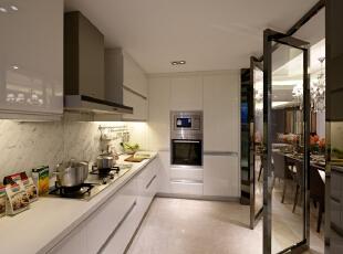 ,简约,四居,厨房,现代,白色,