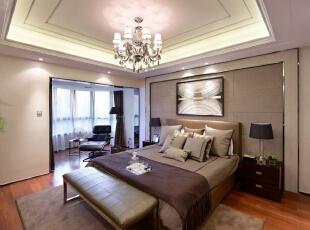 ,简约,四居,卧室,现代,卧室,白色,