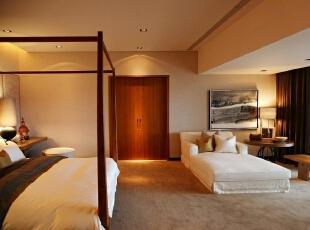 卧室:舒适时尚,只是简单的搭配却显示出了与众不同,199平,20万,现代,三居,卧室,白色,