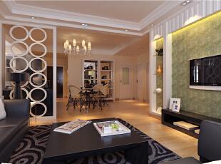 ,85平,6万,清新,两居,客厅,餐厅,现代,简约,宜家,白色,原木色,黑白,