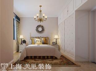 天骄华庭89平3室2厅简美风格装修案例——主卧装修效果图,89平,7万,美式,三居,卧室,粉色,