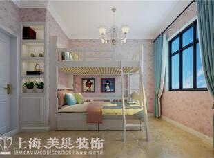 天骄华庭89平3室2厅简美风格装修样板间——儿童房装修效果图,89平,7万,美式,三居,儿童房,粉红色,
