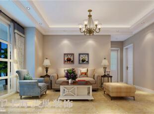 天骄华庭89平3室2厅简美风格装修案例——客厅装修效果图,89平,7万,美式,三居,客厅,白色,