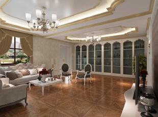 ,380平,20万,中式,别墅,客厅,黄色,白色,