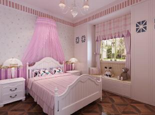 ,380平,20万,中式,别墅,卧室,粉红色,
