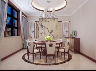 ,380平,20万,中式,别墅,餐厅,原木色,