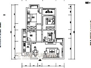 锦艺城装修案例90平两室两厅户型图,90平,8万,欧式,两居,