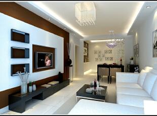 ,82平,9万,简约,两居,客厅,原木色,白色,