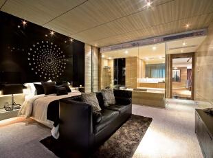 ,307平,45万,新古典,别墅,客厅,黑白,原木色,