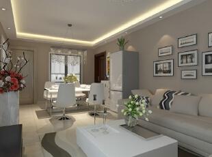 ,86平,62800万,现代,两居,客厅,白色,