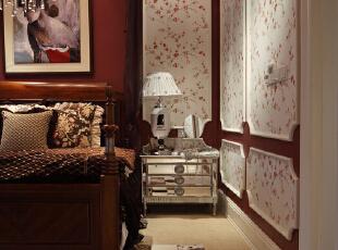 ,340平,35万,美式,别墅,卧室,原木色,白色,