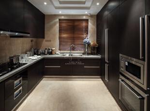 ,120平,15万,现代,两居,厨房,黑白,