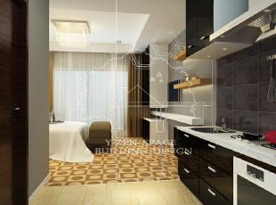 ,45平,3万,现代,公寓,厨房,黑白,