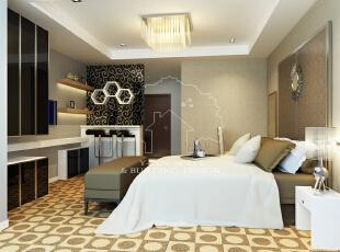 ,45平,3万,现代,公寓,卧室,黑白,黄色,