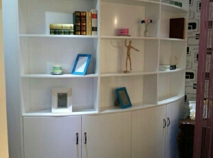 ,45平,3万,现代,公寓,书房,白色,