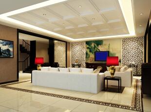 ,250平,60万,别墅,现代,客厅,黄色,黑白,