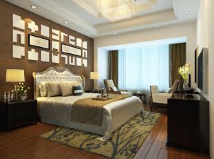 ,250平,60万,别墅,现代,卧室,黄色,白色,