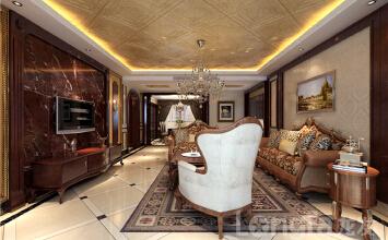 北城国际洋房B户型165平装修欧式古典风格设计效果图