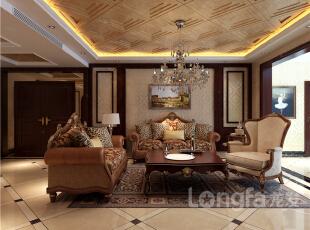 ,165平,6万,欧式,三居,客厅,原木色,