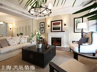 方圆经纬108平方三室两厅现代简约装修案例---客厅装修效果图,108平,7万,现代,三居,客厅,黄色,白色,