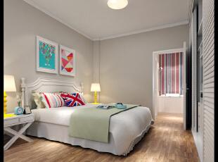 ,98平,20万,现代,三居,卧室,白色,