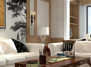 ,111平,0万,混搭,三居,客厅,原木色,白色,