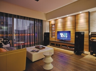 ,140平,15万,现代,三居,客厅,原木色,黑白,