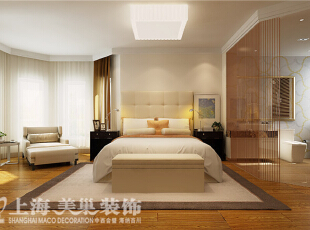 祥和花园1号楼190平方现代简约装修效果图-卧室装修效果图,190平,25万,现代,四居,卧室,黄色,白色,