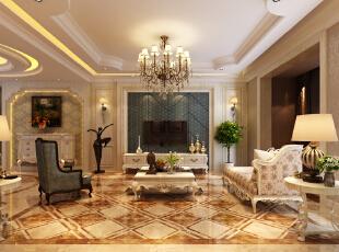 ,145平,14万,欧式,四居,客厅,黄色,