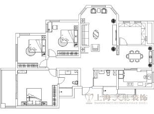 绿城百合180平四室两厅新中式装修户型图,180平,50万,中式,四居,