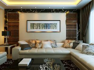 ,150平,83000万,现代,三居,客厅,原木色,黄色,