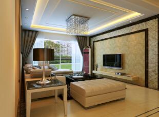 ,150平,83000万,现代,三居,客厅,白色,