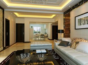 ,150平,83000万,现代,三居,白色,客厅,