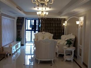 ,160平,38万,欧式,四居,客厅,黄色,白色,