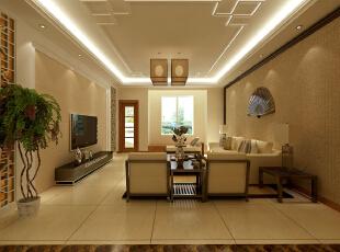 ,151平,98000万,中式,三居,客厅,黄色,