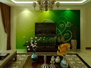 ,103平,41000万,中式,两居,客厅,绿色,