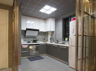 ,74平,7万,简约,两居,厨房,厨房,黑白,