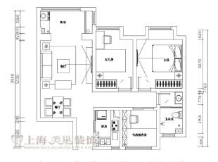 建业贰号城邦装修案例90平两室两厅户型图,90平,6万,田园,两居,